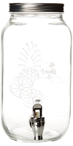 Fontaine à cocktail en verre